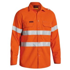 Bisley BS8081T TENCATE TECASAFE® PLUS 700 TAPED HI VIS FR VENTED LONG SLEEVE SHIRT