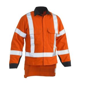 Bisley BS8349XT TENCATE TECASAFE® PLUS 700 X TAPED HI VIS TTMC-W FR VENTED LONG SLEEVE SHIRT