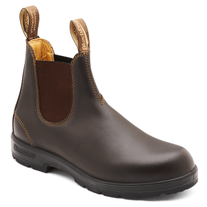 Blundstone 650 Slip On Non Safety Boots Walnut Brown