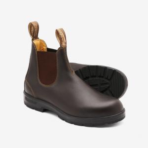 Blundstone 650 Slip On Non Safety Boots Walnut Brown