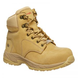KingGee K27380 Women's Tradie 130mm Side Zip Wheat