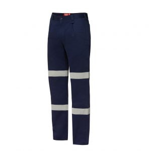 HARD YAKKA Y02615 FOUNDATIONS DRILL PANT WITH DOUBLE HOOP TAPE