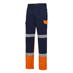 HARD YAKKA Y02870 BIOMOTION TWO TONE PANT WITH TAPE