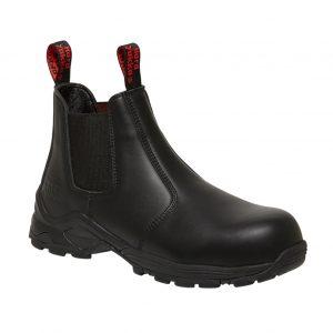 HARD YAKKA Y60116 3056 GUSSET SAFETY BOOT BLACK