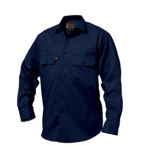 KingGee K04010 Open Front Drill Shirt L/S