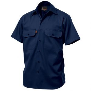 KingGee K04030 Open Front Drill Shirt S/S