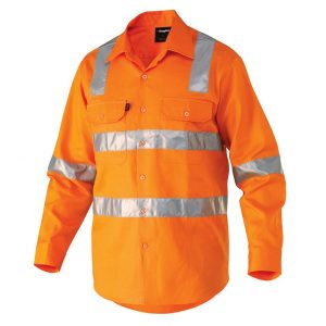 KingGee K54055 Reflective Drill Shirt L/S