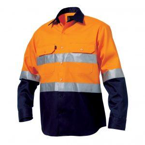 KingGee K5431G Reflective Spliced Drill Shirt L/S