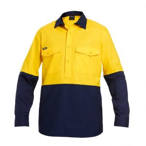 KingGee K54876 Workcool 2 Spliced Closed Front Shirt L/S