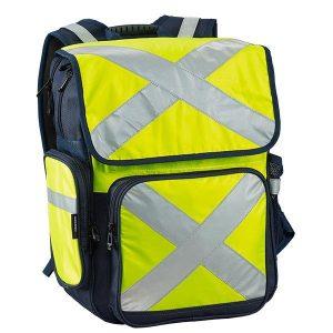 CARIBEE 11803 Pilbara 34L safety backpack - Hi Vis Yellow/Navy