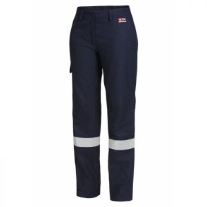 HARD YAKKA Y02320 WOMEN'S SHIELDTEC FR FLAT FRONT CARGO PANT WITH FR TAPE