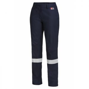 HARD YAKKA Y02325 WOMEN'S SHIELDTEC FR FLAT FRONT PANT WITH FR TAPE