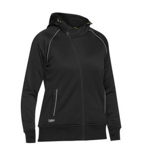BISLEY BKL6925 WOMEN'S FLEECE ZIP FRONT HOODIE WITH SHERPA LINING