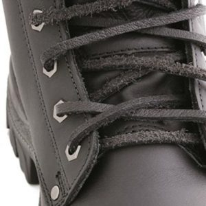 Steel Blue A-000057 Leather Laces Black