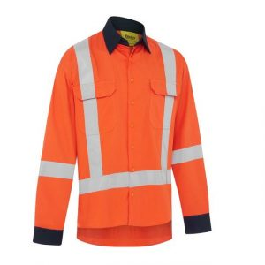 BISLEY BS6248XT X TAPED HI VIS TTMC COOL LIGHTWEIGHT DRILL SHIRT