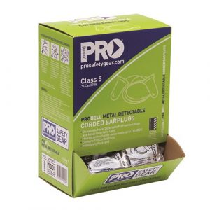 PRO CHOICE EPBMDC PROBELL METAL DETECTABLE EARPLUGS CORDED 100 PAIRS