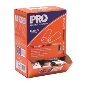 PRO CHOICE EPOU PROBULLET DISPOSABLE UNCORDED EARPLUGS BOX OF 200