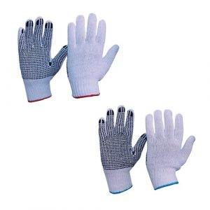 PRO CHOICE 342KPD KNITTED POLY/COTTON WITH PVC DOTS GLOVES
