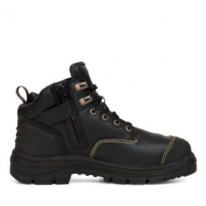 OLIVER 55-340Z 130MM BLACK ZIP SIDED HIKER BOOT