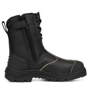 OLIVER 55-380 200MM HI-LEG BLACK ZIP SIDED BOOT