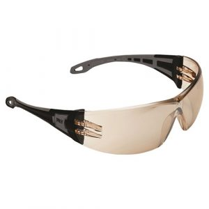 THE GENERAL 6409 SAFETY GLASSES BROWN LENS 12 PAIRS