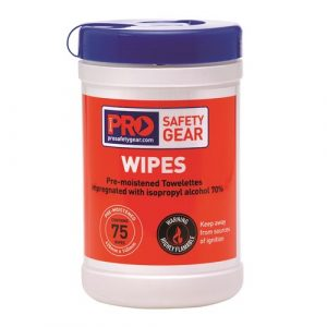 PRO CHOICE CW75 ISOPROPYL WIPES 75 WIPE CANISTER