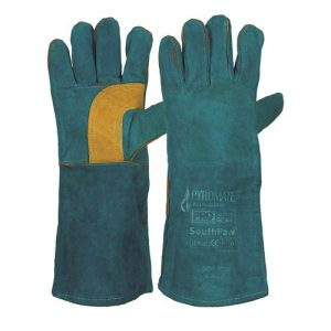 PRO CHOICE LGW16E PYROMATE® SOUTH PAW® LEFT HAND PAIR -GREEN & GOLD KEVLAR® GLOVE GREEN