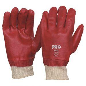 PRO CHOICE PVC27KW 27CM RED PVC / KNIT WRIST GLOVES LARGE