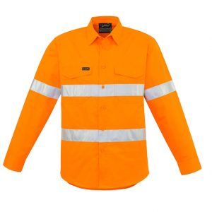 Syzmik ZW640 Mens Hi Vis Hoop Taped Shirt