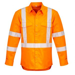 Syzmik ZW690 Mens Hi Vis X Back Taped Shirt