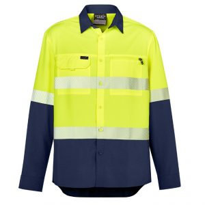 Syzmik ZW470 Mens Hi Vis Outdoor Segmented Tape L/S Shirt