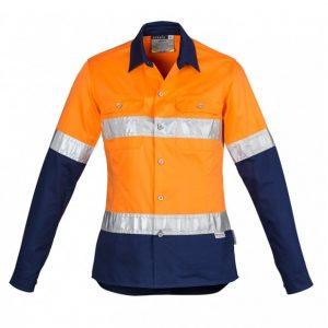 Syzmik ZWL123 Women's Hi Vis Spliced Industrial L/S Shirt- Hoop Taped