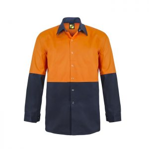 Workcraft WS3035 Hi Vis Two Tone L/S Cotton Drill Food Industry Shirt