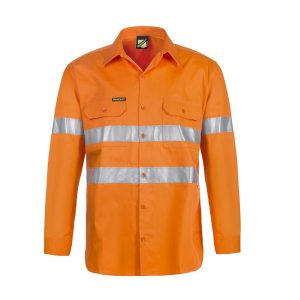 Workcraft WS4131 Lightweight Hi Vis L/S Vented Cotton Drill Shirt