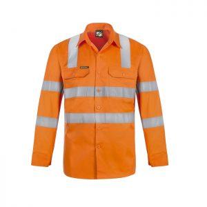 Workcraft WS6011 Lightweight Hi Vis Vented Cotton Drill Shirt