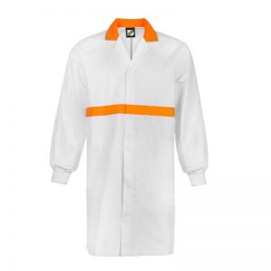 Workcraft WJ3085 Food Industry Dustcoat with Contrast Collar- L/S
