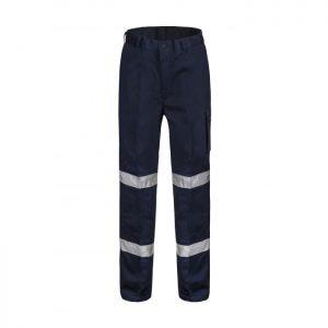 Workcraft WP3065 Hi-Vis Mens Mid Weight Navy Cargo Pants