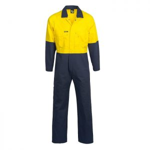 Workcraft WC3051 Hi Vis Two Tone Cotton Drill Overalls