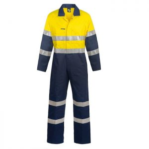 Workcraft WC3056 Hi Vis Two Tone Cotton Drill Coveralls