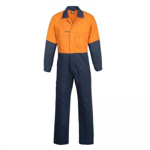 Workcraft WC3059 Hi Vis Two Tone Poly/Cotton Coveralls