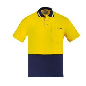 Syzmik ZH435 Mens Hi Vis Cotton S/S Polo