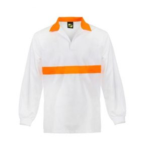 Workcraft WS3003 Food Industry Jac Shirt with Contrast Collar- L/S