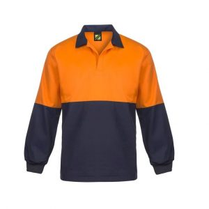 Workcraft WS3018 Food Industry Hi Vis Two Tone Jac Shirt with Contrast Collar