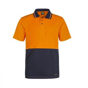 Workcraft WSP201 Hi Vis Two Tone S/S Micromesh Polo with Pocket