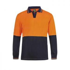 Workcraft WSP206  Hi Vis Two Tone L/S Micromesh Polo