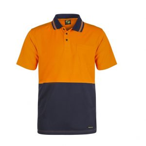 Workcraft WSP401 Hi Vis Two Tone S/S Cotton Back Polo with Pocket