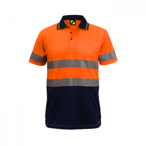 Workcraft WSP410 Hi Vis Two Tone S/S Micromesh Polo