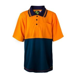 Workcraft WSPK20 Kids Two Tone Short Sleeve Micromesh Polo with Pocket