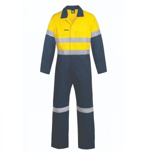 Workcraft WC6093 Hi Vis Two Tone Cotton Drill Coveralls