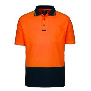 Ritemate RM2346S Hi viz short sleeve polo shirt